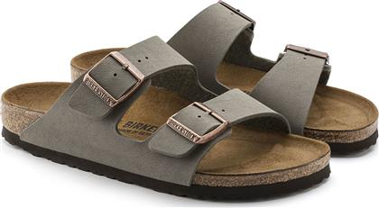Birkenstock Arizona Birko-Flor Nubuck Stone Narrow Fit από το Epapoutsia