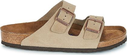 Birkenstock Arizona Soft Footbed Suede Leather 0951301 Regular Fit Taupe από το Epapoutsia
