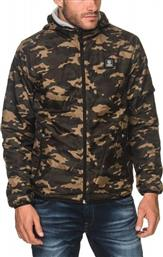 Franklin & Marshall Bomber Classic Camouflage Αντιανεμικό Με Κουκούλα από το Factory Outlet