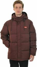 GLOBE APPAREL Μπουφάν GLOBE IGNITE PUFFER JACKET OXBLOOD Oxblood από το New Cult