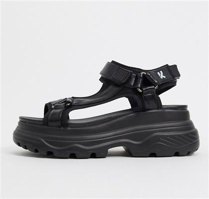 Koi Footwear chunky sandals in black από το Asos