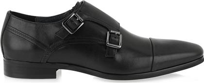 RENATO GARINI MONK SHOES L515W8191002 - ΜΑΥΡΟ ΔΕΡΜΑ L515W8191002-BLACK WAXED COW LEATHER από το Tsakiris Mallas